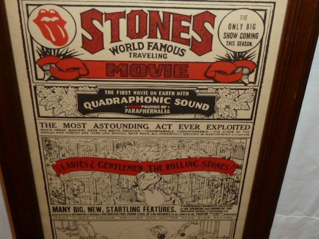 ROLLING STONES COMPLETE CONCERT MOVIE POSTER - 2