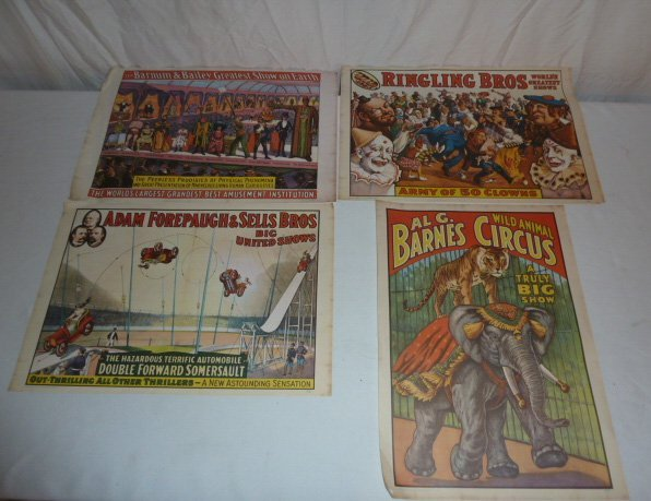 FOUR VINTAGE CIRCUS POSTERS