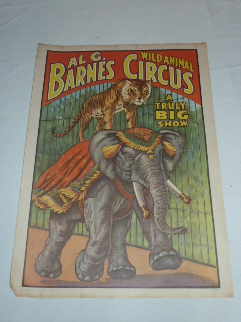 FOUR VINTAGE CIRCUS POSTERS - 4