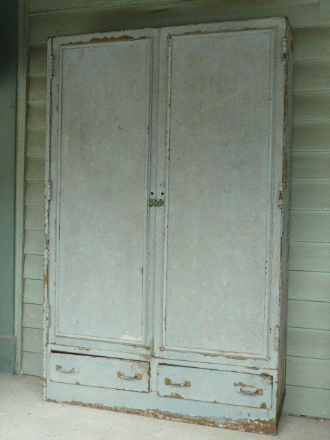INDUSTRIAL METAL 2 DOOR OVER 2 DRAWER CABINET - 3