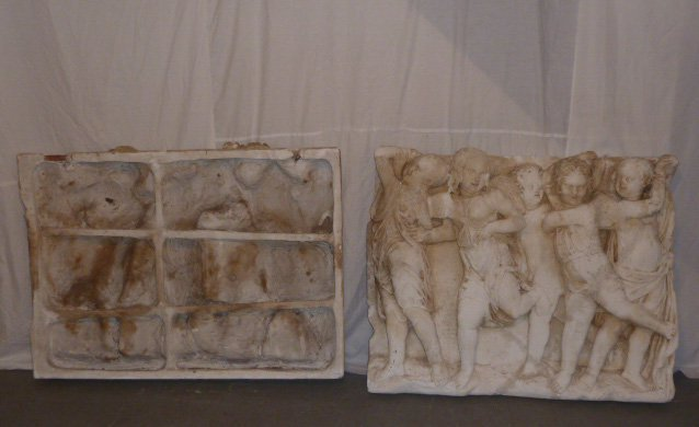 2 VINTAGE PLASTER FRIEZES 10 WINGED ANGELS - 6
