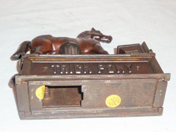 19TH C. CAST IRON TRICK PONY MECHANICAL BANK - 5