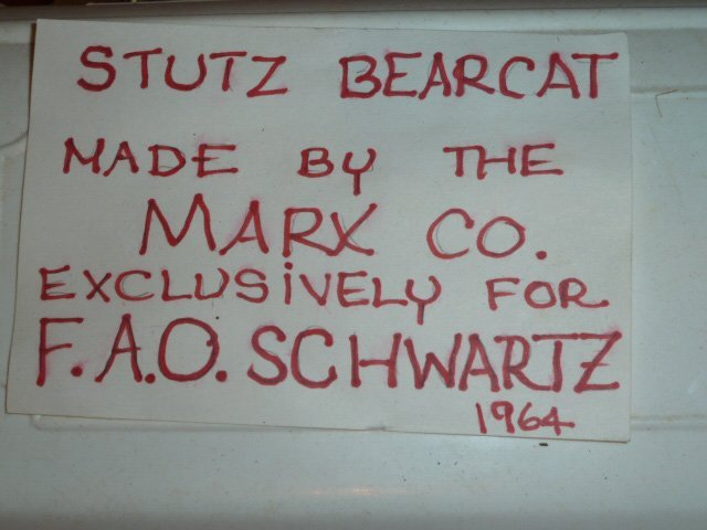 MARX BATTERY POWERED STUTZ BEARCAT CONVERTIBLE - 9