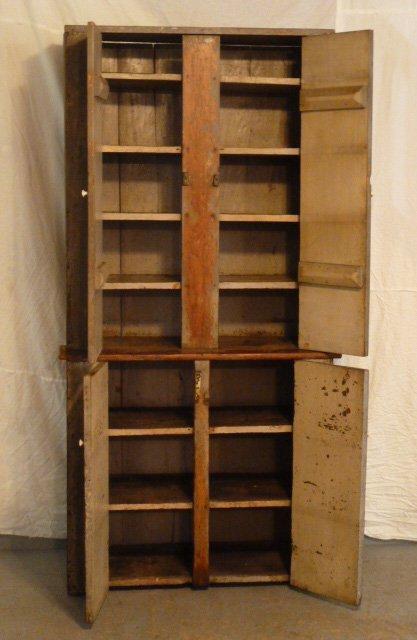 CIRCA 1840 4 DOOR STEPBACK CUPBOARD - 3