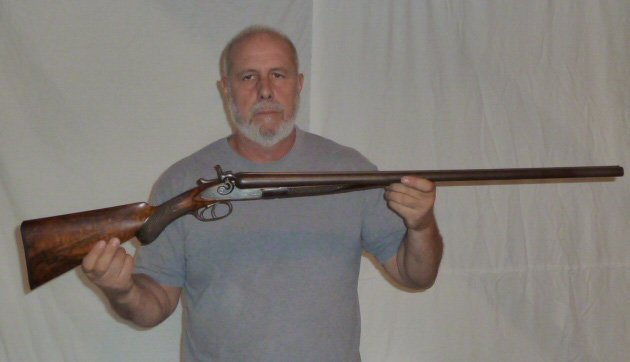 1878 COLT 12 GAUGE DOUBLE BARREL SHOTGUN DAMASK - 10
