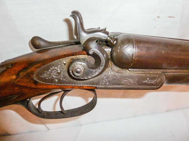 1878 COLT 12 GAUGE DOUBLE BARREL SHOTGUN DAMASK