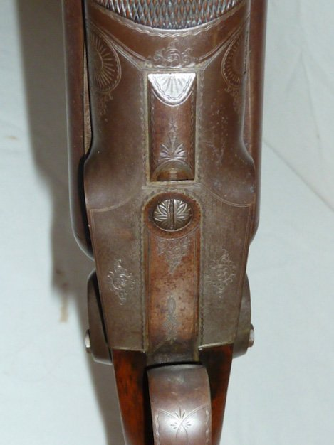 1878 COLT 12 GAUGE DOUBLE BARREL SHOTGUN DAMASK - 8