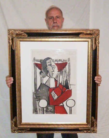 PICASSO LITHOGRAPH FRAMED 1953