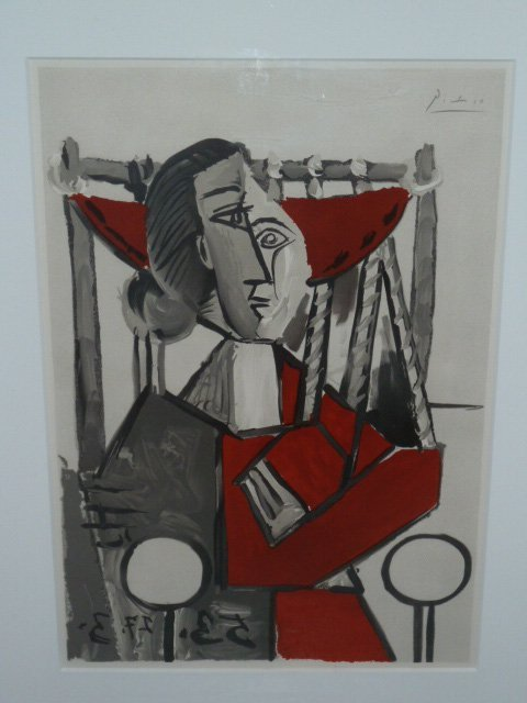 PICASSO LITHOGRAPH FRAMED 1953 - 2