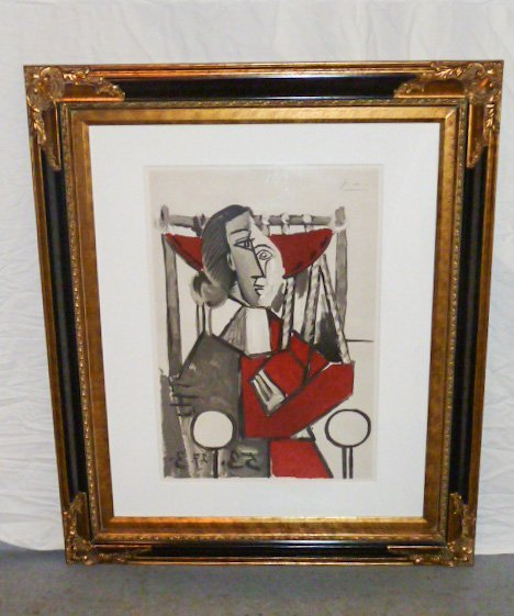 PICASSO LITHOGRAPH FRAMED 1953 - 6