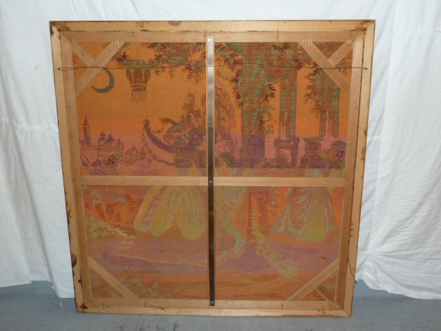 ANTIQUE FRENCH TAPESTRY IN CARVED WOOD FRAME - 4
