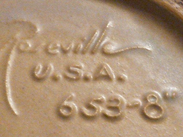 ROSEVILLE WHITE ROSE JARDINIERE SIGNED 653-8 - 3