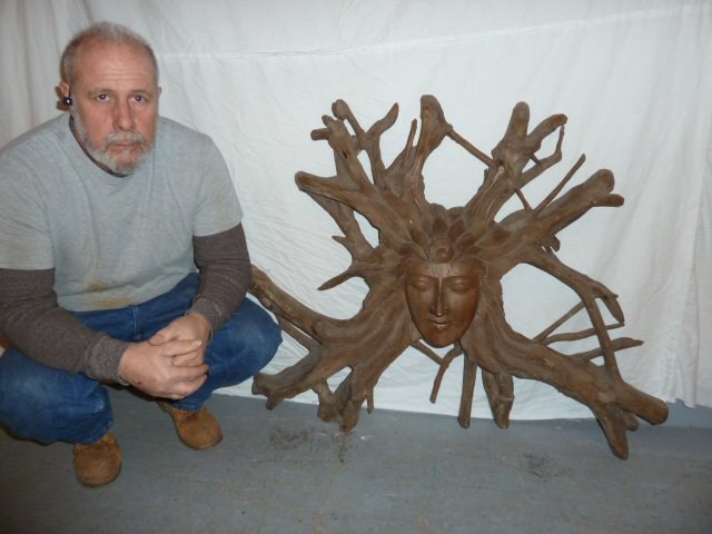GODDESS TREE ROOT HANGING SCULPTURE - 5