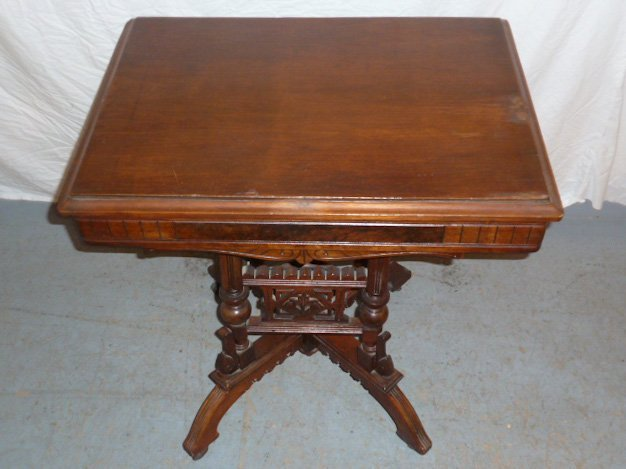 VICTORIAN FLIP TOP ORNATE DESK/STAND - 5