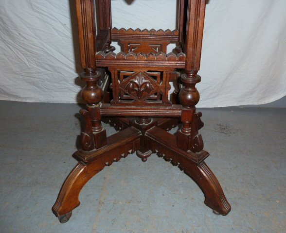 VICTORIAN FLIP TOP ORNATE DESK/STAND - 6