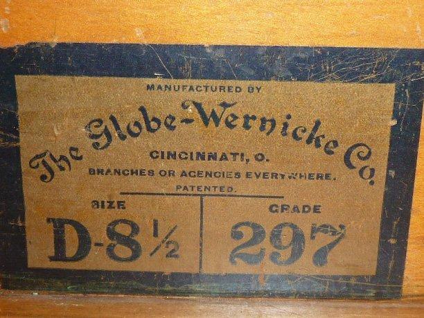 GLOBE-WERNICKE OAK BANDED BOOKCASE DESK - 4