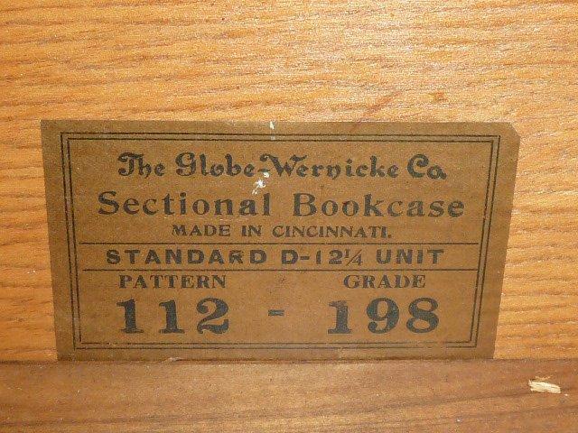 GLOBE-WERNICKE OAK BANDED BOOKCASE DESK - 5