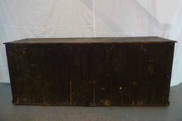 19TH CENTURY 4 DOOR STORE CUPBOARD / COUNTER - 6