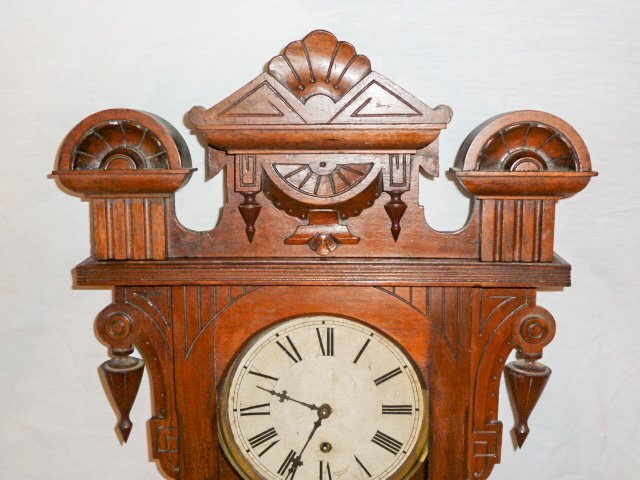 19TH C. LONG DROP 8 DAY TIME ONLY REGULATOR CLOCK - 2