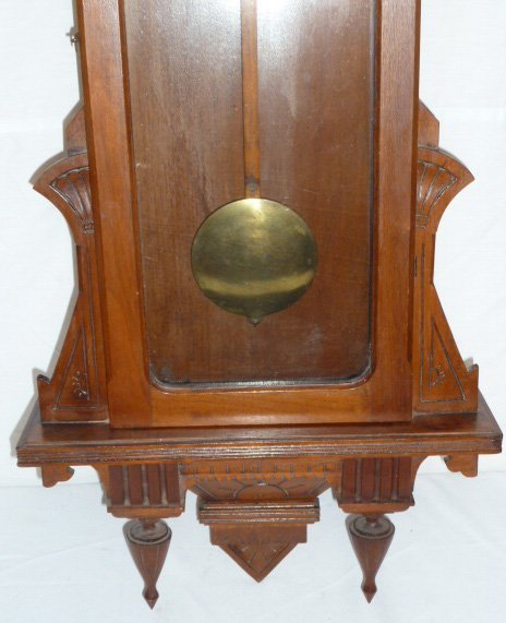 19TH C. LONG DROP 8 DAY TIME ONLY REGULATOR CLOCK - 3
