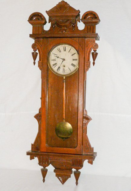 19TH C. LONG DROP 8 DAY TIME ONLY REGULATOR CLOCK - 5