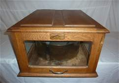 C1900 OAK CASED COUNTRY STORE CHEESE CASE
