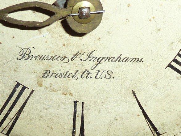 BREWSTER & INGRAHAM BEEHIVE SHELF CLOCK - 4