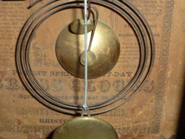 BREWSTER & INGRAHAM BEEHIVE SHELF CLOCK - 5