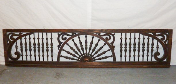 CIRCA 1900'S FRET WORK SPINDLED PANEL