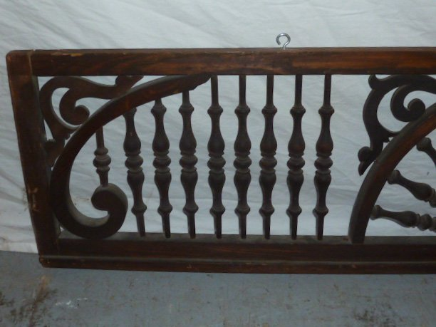 CIRCA 1900'S FRET WORK SPINDLED PANEL - 2