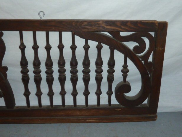 CIRCA 1900'S FRET WORK SPINDLED PANEL - 4