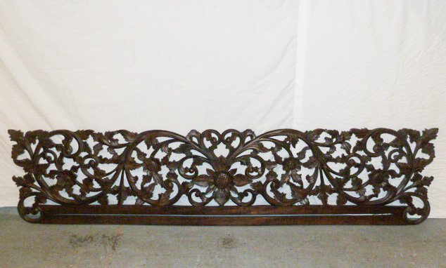 VICTORIAN HEAVILY CARVED PEDIMANT - SUN FLOWER - 2