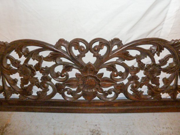 VICTORIAN HEAVILY CARVED PEDIMANT - SUN FLOWER - 4