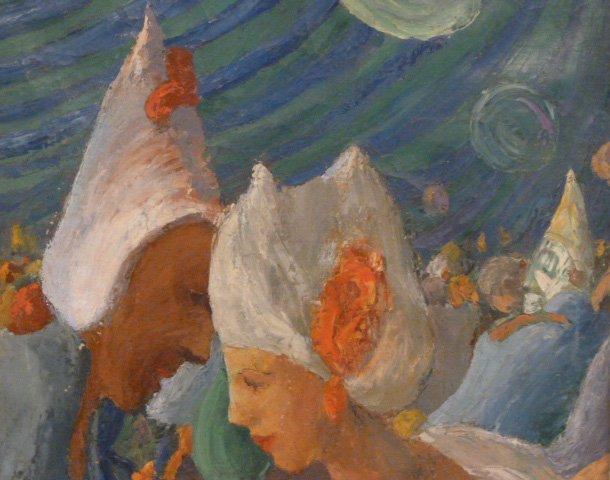 "NORMAN MacLEISH PAINTING ""MASQUERADE PARTY 1933 - 2"