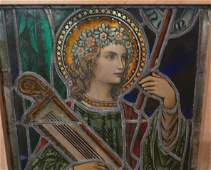 ANTIQUE LEADED STAIN GLASS WINDOW PANEL CHURCH IN NY