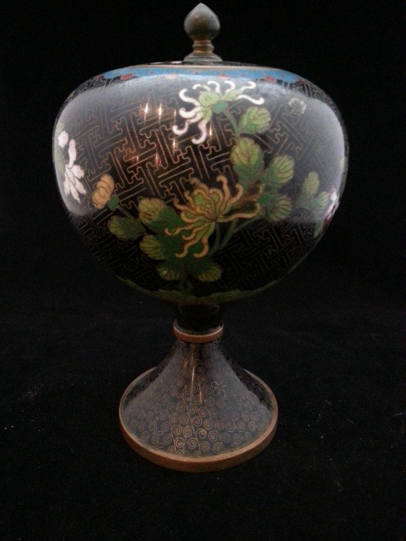 Qing imperial cloisonne jar