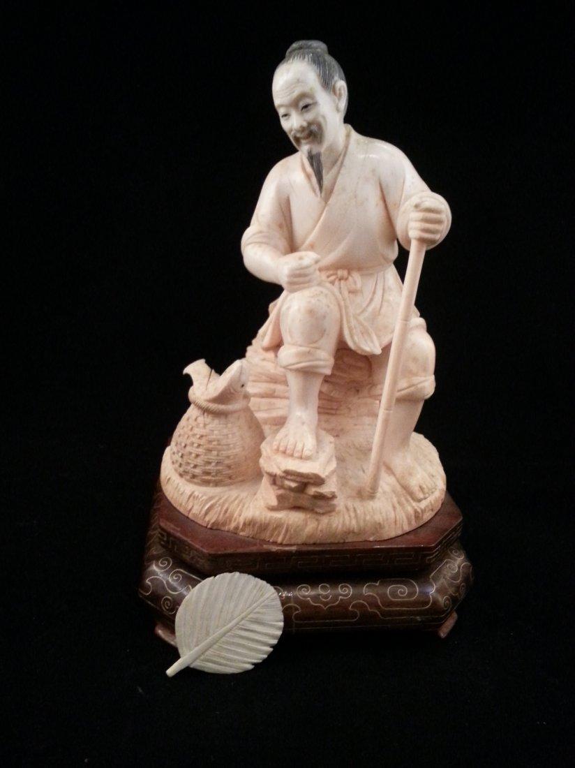Qianlong fisherman statue