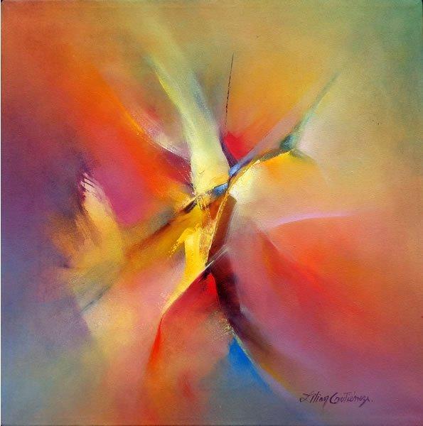 Abstract #555-Oil on Canvas Original Gutti