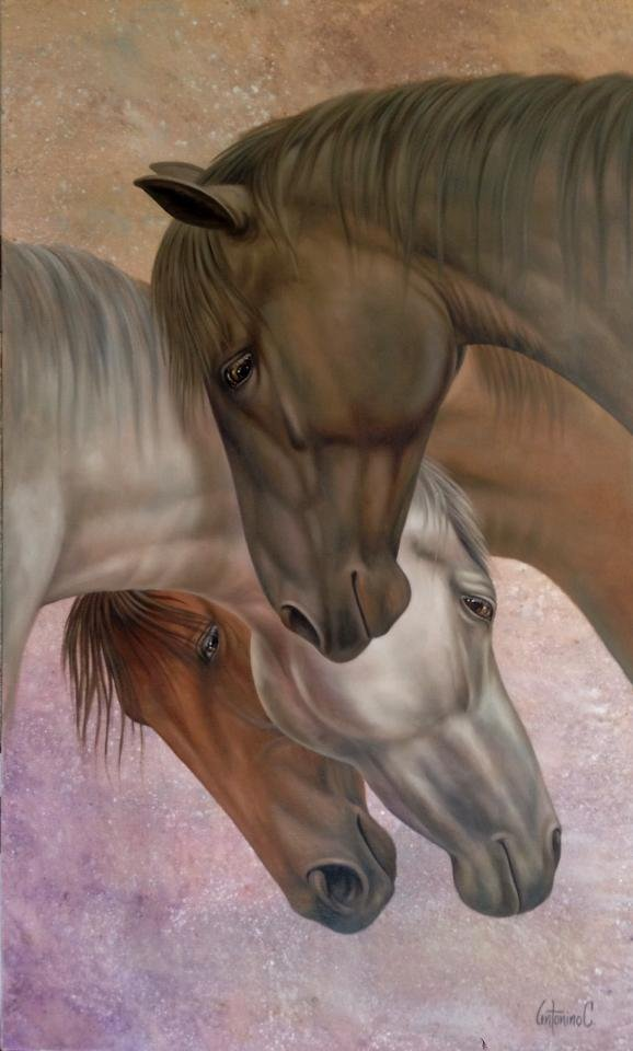 Royal Stables-Oil on Canvas by Antonino