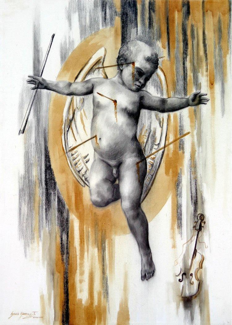 Mixed Media Original on Canvas-By Nacho