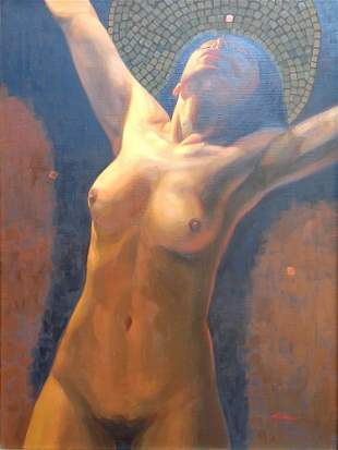 Crucible-Oil on Canvas Original by Jaimes