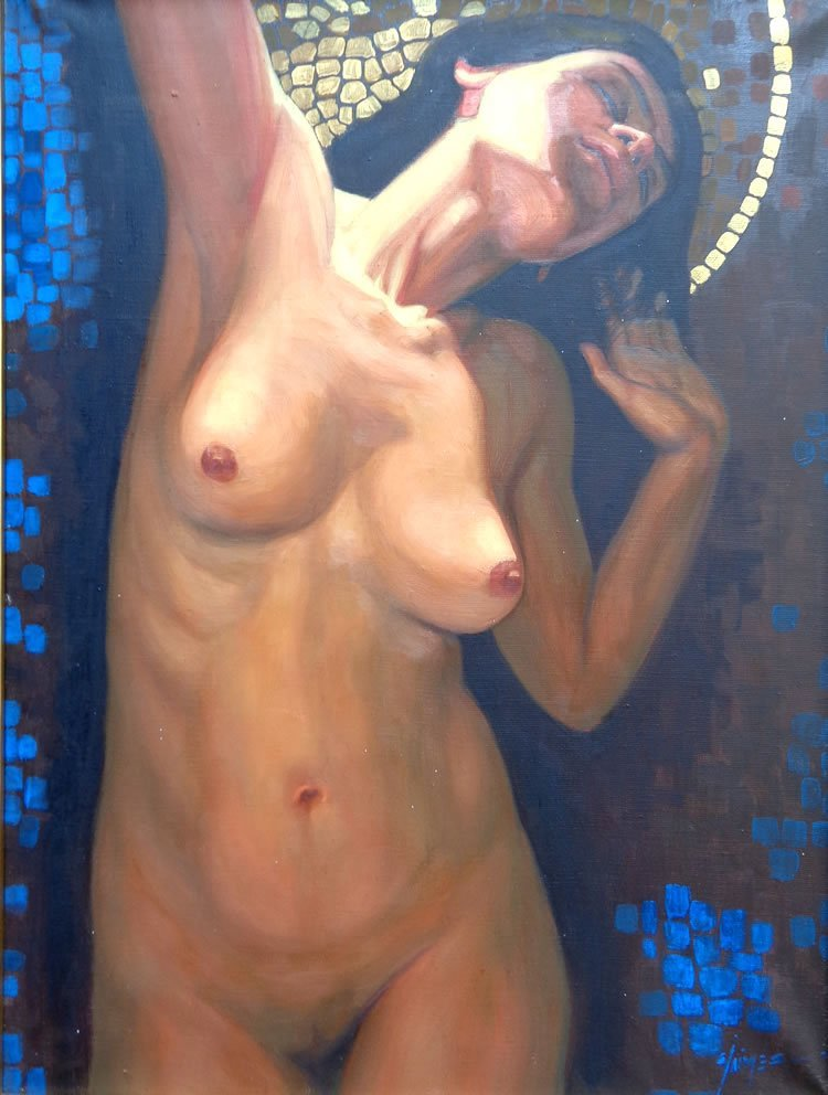 Madonna Unveiled-Oil on Canvas Original Jaimes