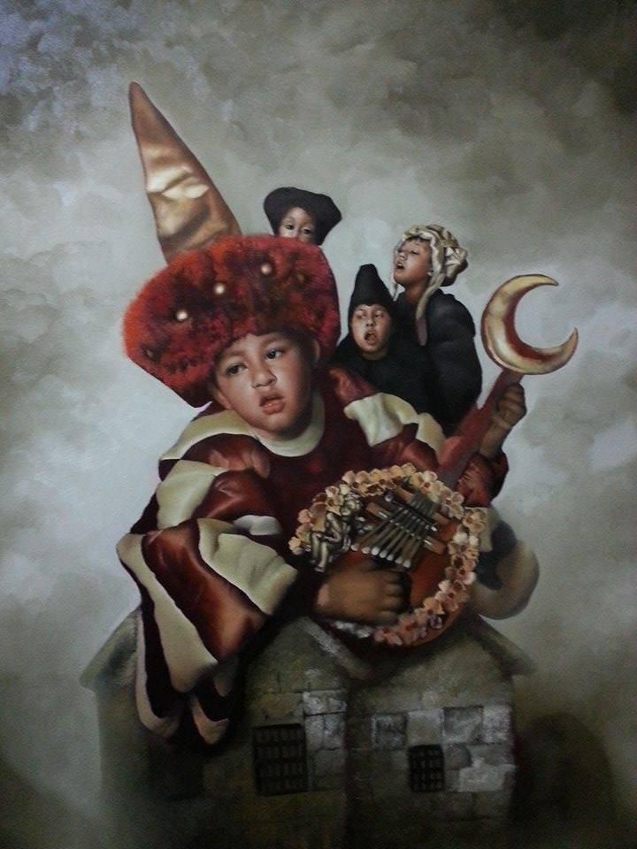Little Prince-Oil Original- Alberto Salazar