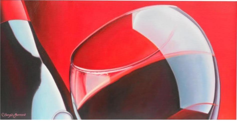 Red, Red Wine-Oil on Canvas Original Sergio Guerrero