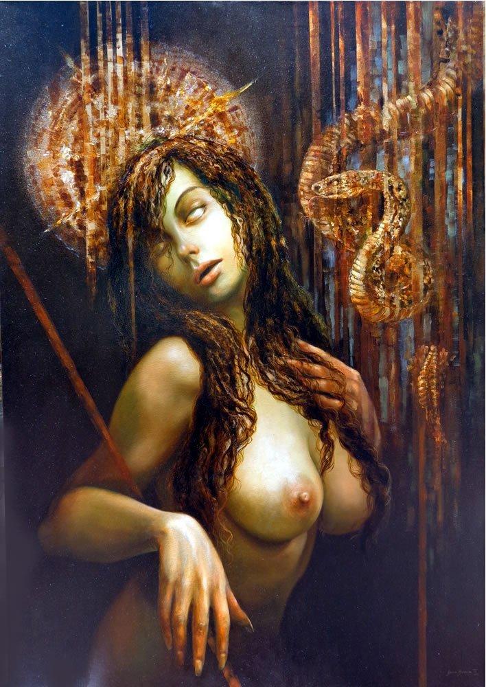 The Temptation of Eve-Oi Original Nacho Ramirez