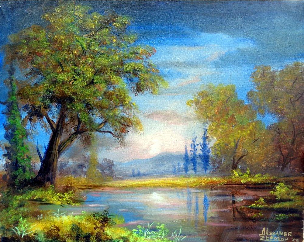 Paradise Lake-Oil Original Zeporov