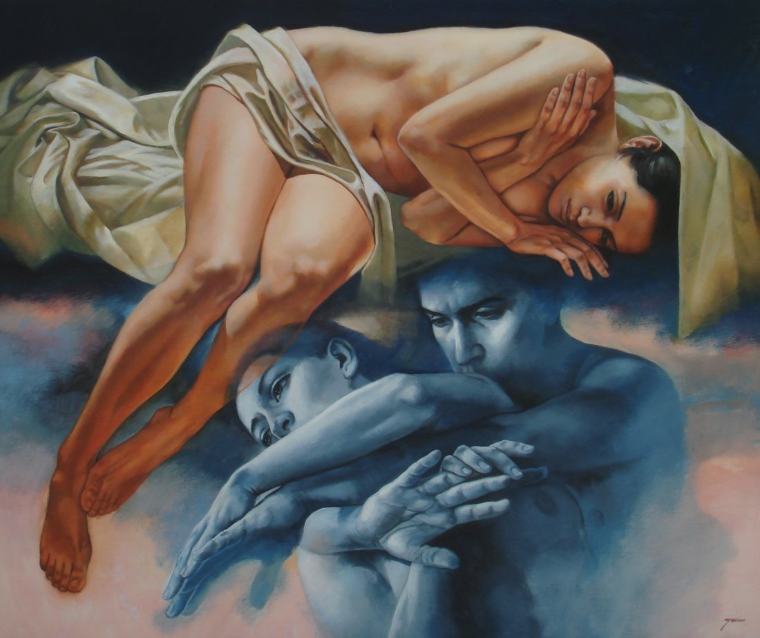 Silence is Best-Acrylic on Canvas Original by Rafael