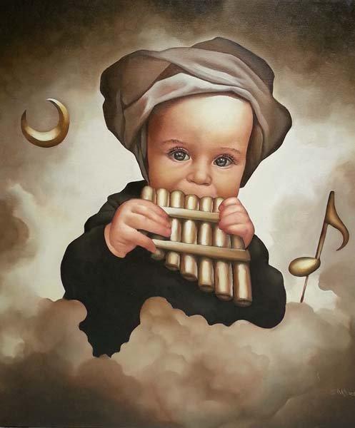 Baby Symphony-Oil Original- Alberto Salazar