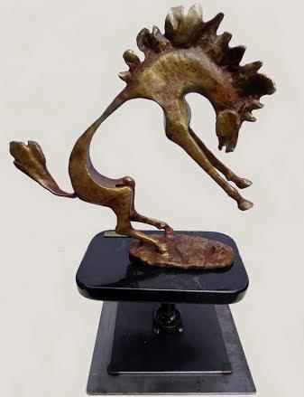 Wild Bronco Metal Sculpture Tino Narcia