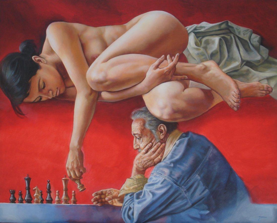 Game of Life-Acrylic on Canvas Original Merinoo